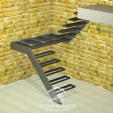 Лестница консольная П-образная с площадкой