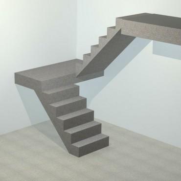 Лестница бетонная П-образная
